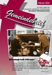 Februar 2010 Monatsspruch Februar: - posaunenchor ...