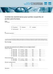 Contrat de maintenance pour portes coupe-feu et ... - Go4metal.ch