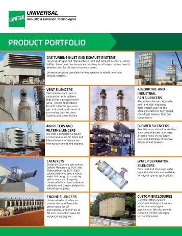 Product Portfolio Flyer - Universal: Acoustic Silencers