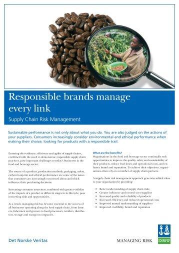 Supply Chain Risk Management (pdf) - Dnv.in