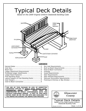 Deck Detail - Gloucester County Virginia