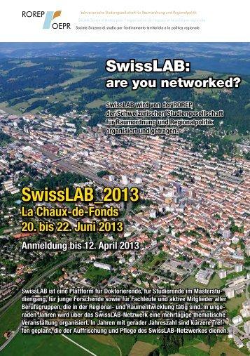 Flyer SwissLAB_2013 La Chaux-de-Fonds - vlp-aspan
