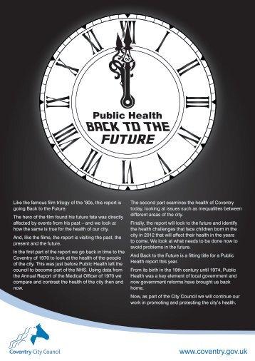 Report of the Director of Public Health Appendix 2 , item 7. PDF 3 MB