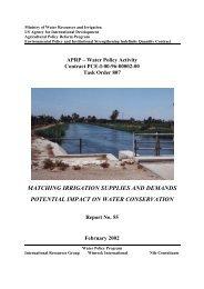 Report 55 Matching Irrigation Supplies and Demands
