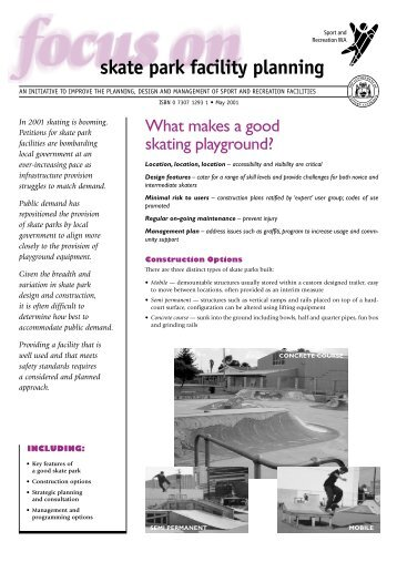 skate park facility planning - Australian Sports Commission