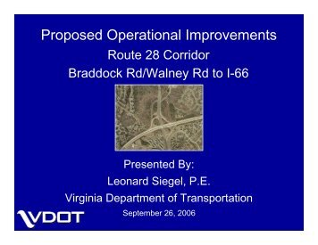 Proposed Operational Improvements - Fairfax County Government