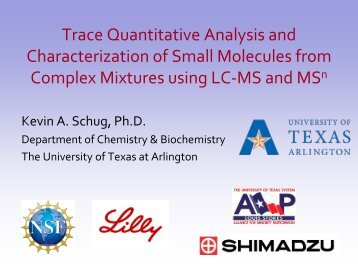 Trace Quantitative Analysis and Characterization of Small Molecules ...