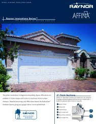 Affina Windloaded - Raynor Garage Doors
