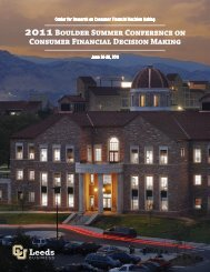 2011Boulder Summer Conference on Consumer Financial Decision ...
