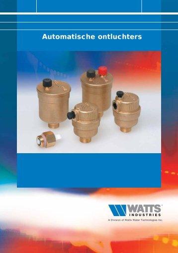 Automatische ontluchters - WATTS industries