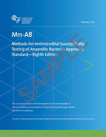 Methods for Antimicrobial Susceptibility Testing of ... - NetSuite