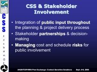 CSS & Stakeholder Involvement