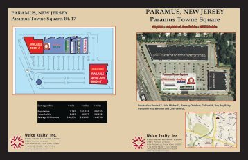 PARAMUS, NEW JERSEY Paramus Towne Square - Welco Realty, Inc