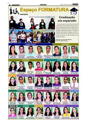 Espaço FORMATURA Espaço FORMATURA - Jornal dos Lagos