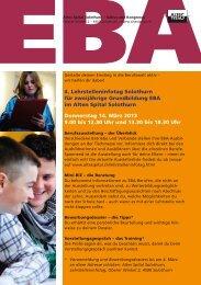 Flyer Lernende - Integration Kanton Solothurn
