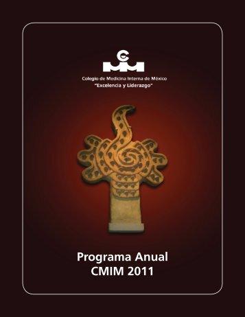 Programa Anual CMIM 2011 - Colegio de Medicina Interna de México