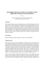 wind directionality effects on design wind pressures of hong kong