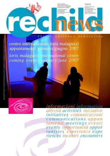 Rechild news Dicembre 2006 - Reggio Children