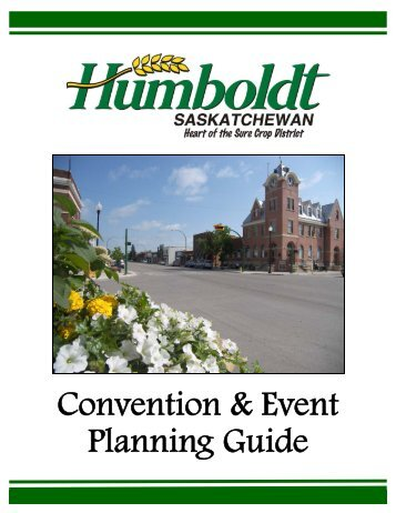 Convention & Event Planning Guide - Nov. 2009 - City of Humboldt