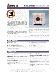 20/20U (UB) - UV Flame Detector - Spectrex Inc.