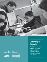 Listening to Experts: - Massachusetts 2020