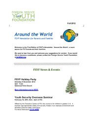 Around the World - Foreign Service Youth Foundation