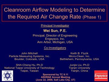 Room Particle Concentration versus Air Change Rate