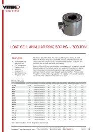 LoAd CeLL AnnuLAR RIng 500 kg – 300 Ton - Vetek Scales