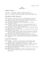March 25, 2012 VITA Since 2000 Academic Training 1992 Ph.D ...