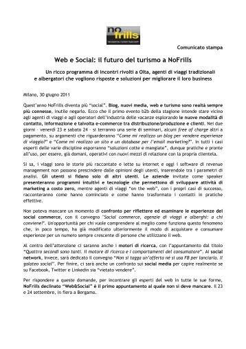 Web e Social: il futuro del turismo a NoFrills - GuidaViaggi