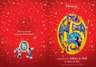 Brochure Arbre de Noël - Disneyland® Paris