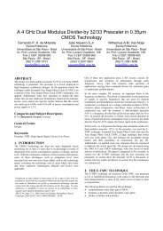 A 4 GHz Dual Modulus Divider-by 32/33 Prescaler in ... - LSI - USP