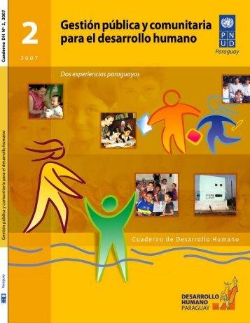 Gestión pública y comunitaria para el desarrollo humano Dos ...