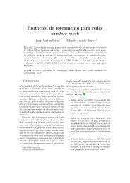 Protocolo de roteamento para redes wireless mesh - GSE