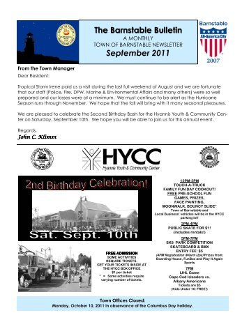 09-11 newsletter for web.pub - Town of Barnstable