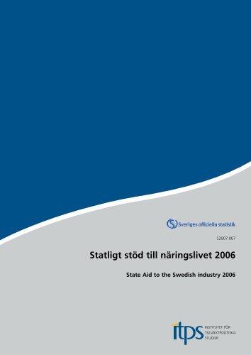Statligt stöd till näringslivet 2006