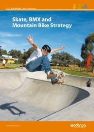 Skate, BMX and Mountain Bike Strategy - City of Wodonga