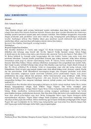 Historiografi Sejarah dalam Gaya Penulisan Ibnu ... - SKP - Unair