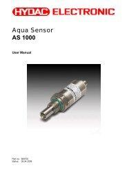 Aqua Sensor AS 1000 - HYDAC USA