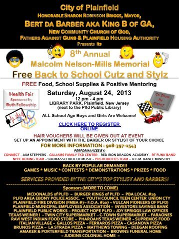Turner Memorial Missionary Baptist Church presents ... - Plainfield
