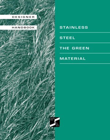 Stainless Steel The Green Material - SSINA