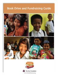 Book Drive and Fundraising Guide - The Asia Foundation