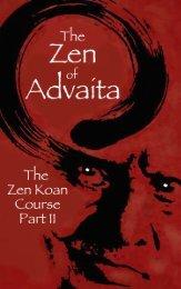 The Zen of Advaita Part II - HolyBooks.com