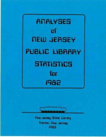 1982 analyses - Library Development Bureau - The New Jersey ...