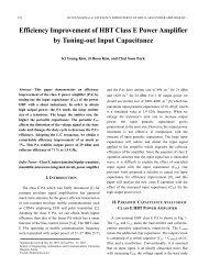 Efficiency Improvement of HBT Class E Power Amplifier by ... - JSTS