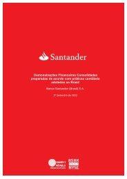 Demonstrações Financeiras 2T12 - Santander