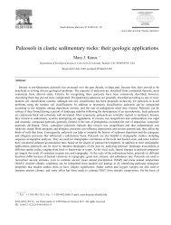 Paleosols in clastic sedimentary rocks: their geologic applications