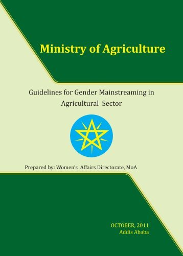 MOA Gender Mainstreaming Guidelines