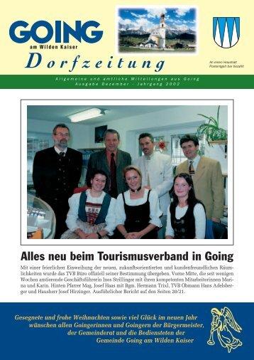 Dorfzeitung Dezember 2002 - Going am wilden Kaiser