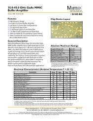 35.0-45.0 GHz GaAs MMIC Buffer Amplifier - Richardson RFPD